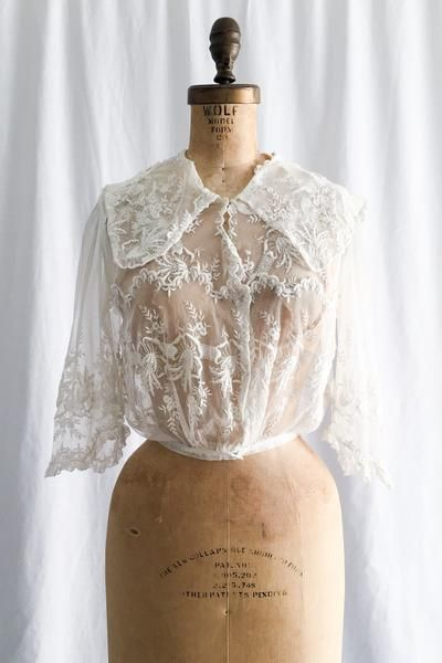 Edwardian Embroidered Tulle Top - XS/S