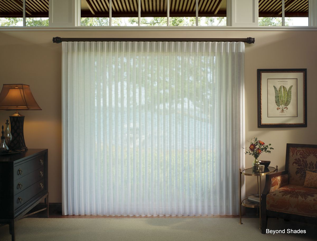 Luminettes Are A Great Alternative To Vertical Blinds For Sliding - Hunter douglas blinds for patio doors