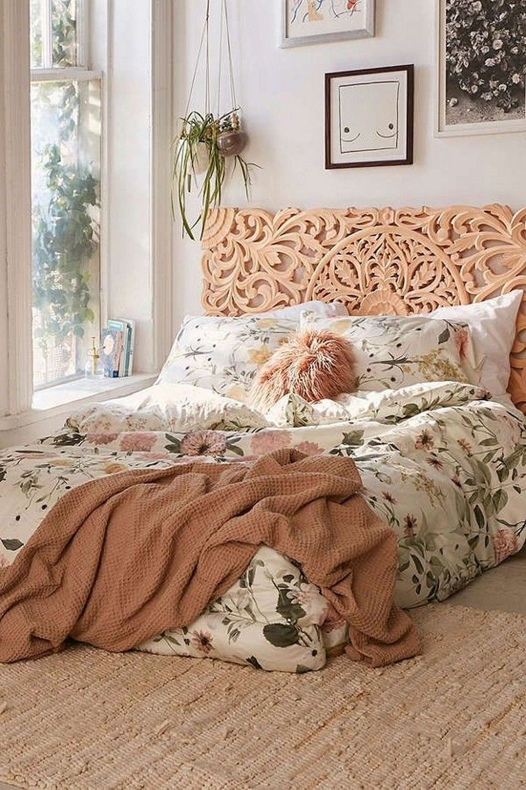 20 Comfy Bedroom Decor Ideas With Floral Theme With Images Stylish Bedroom Comfy Bedroom Decor Comfy Bedroom