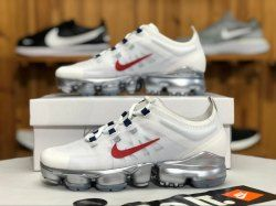 76258441a9390 Nike Air VaporMax 2019 White   Red AR6632-006 Women s Athletic Running Shoes