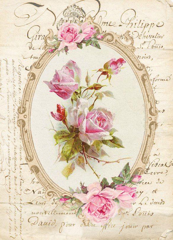 Vintage vintage bilder rosen und blumen malen - Vintage bilder kostenlos ...