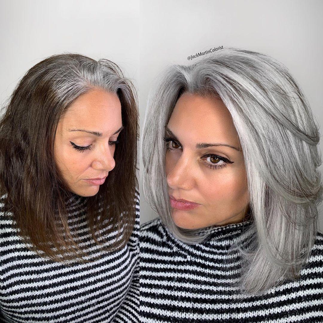 Stehen haaren zu grauen Ab welchem