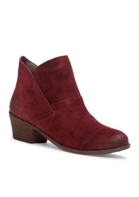 me Too Dark Burgundy Zale Slip on Bootie