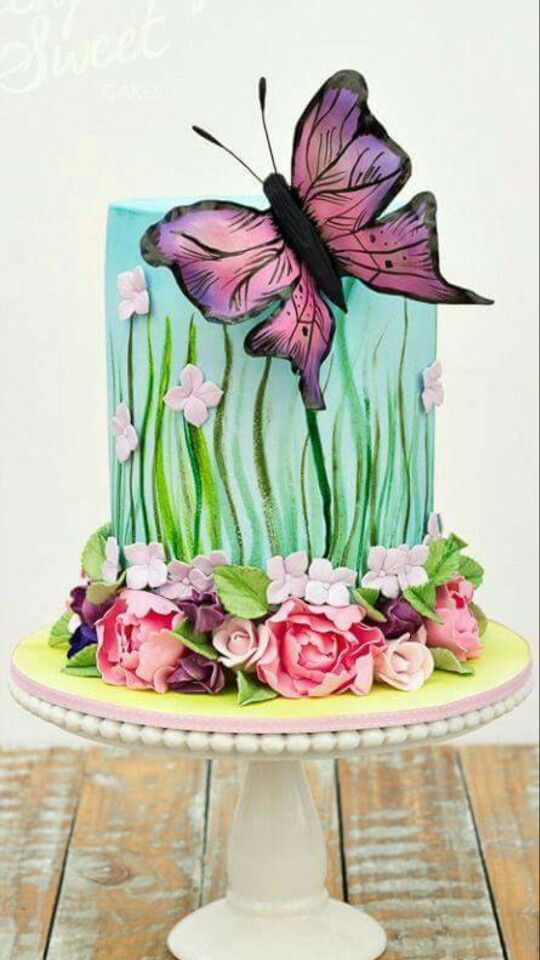 Cake Decorating Ideas Butterfly : Butterfly Cake Kimberly Pinterest Butterfly cakes ...