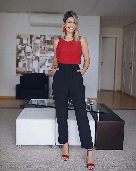 Look Para Oficina Con Pantalones De Vestir Pantalones De Vestir Mujer Ropa Formal Mujer Pantalones De Vestir