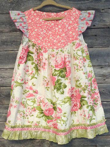 fbc550a1c Matilda Jane Pink Floral Platinum Flutter Dress- NWOT- Size 6 ...