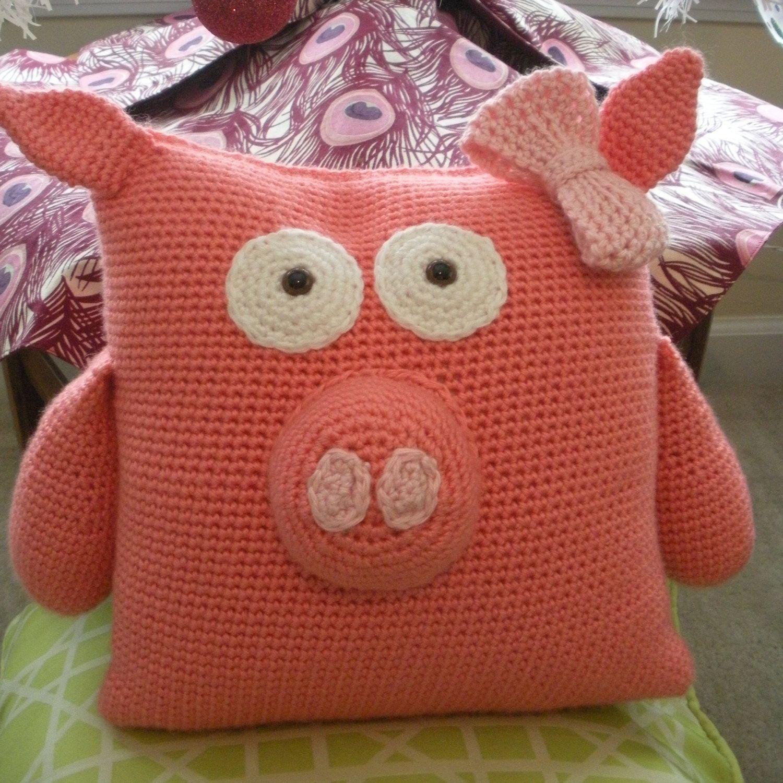 Crochet Piggy Pillow Pal PATTERN PDF by KampyKrafts on Etsy | knit ...