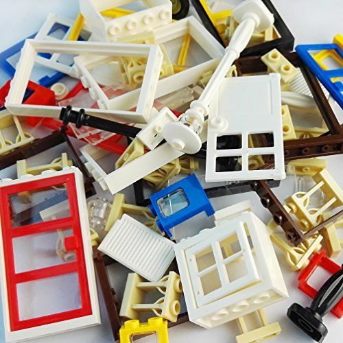 82 Piece Windows  Doors  Fences Sets Building Block Toy - Windows Fences