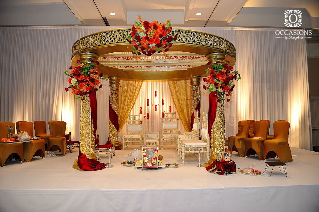 Indian wedding mandaps event decorators occasions by for Decorations for weddings at home