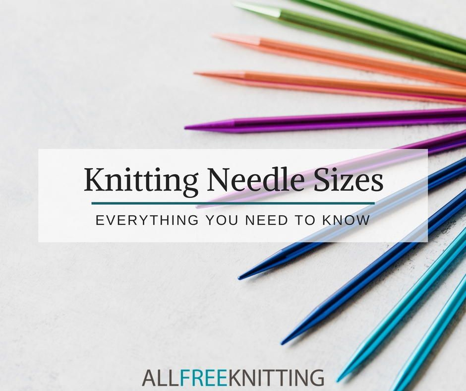 Choose the best needle every time with our knitting needle - Time Conversion Chart