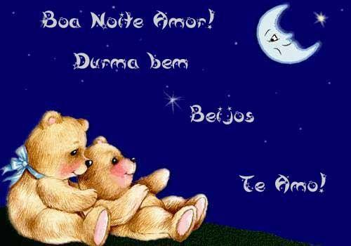 Boa Noite Meu Amor Durma Bem Te Amo Demais Imagens Love Letters