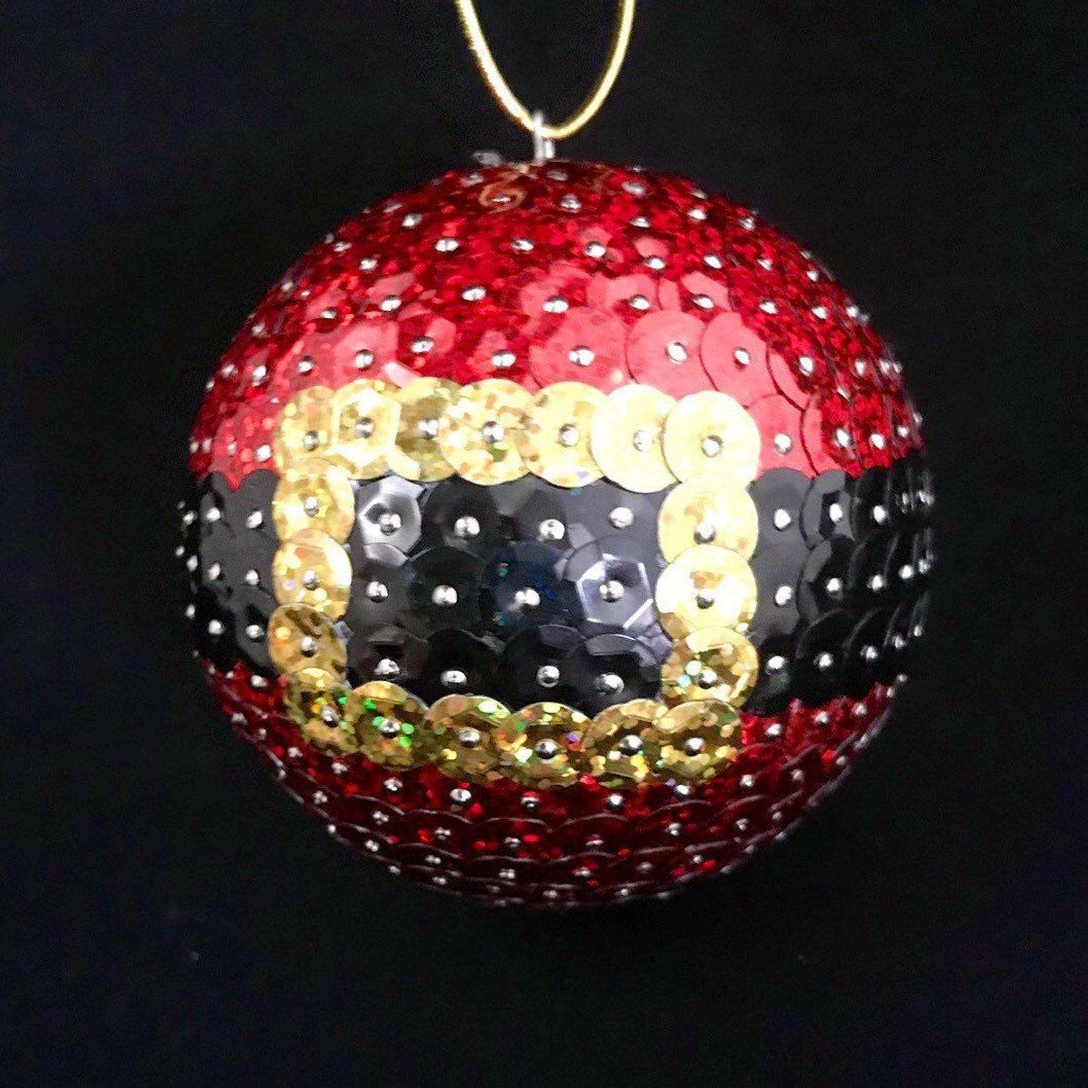 Sequin Santa Belt Christmas Ornament Available In 3 Or 2 5 Handmade Christmas Ornaments Christmas Ornament Crafts Christmas Ornaments