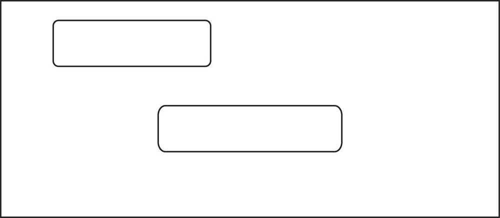 10 Double Window Business Envelopes 1000 Lot 24 White Wove Regular Gum Adhesive Business Envelopes Double Window Envelope