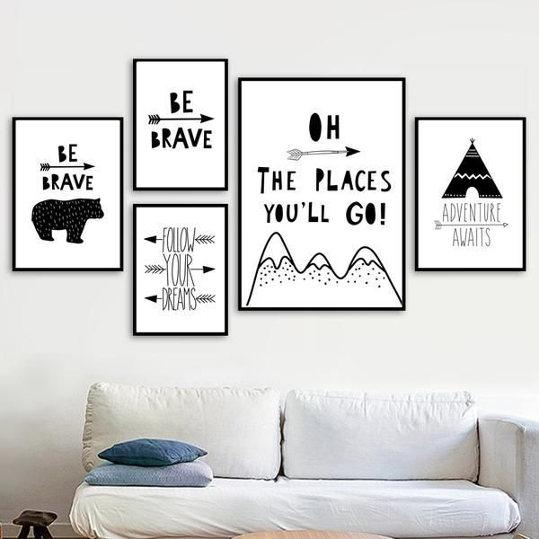 Adventure Inspiring Monochrome Canvas Paintings