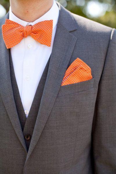 10 Nœuds Papillon à Motifs Pour Un Marié Non Conventionnel Orange Tieorange Sockswedding