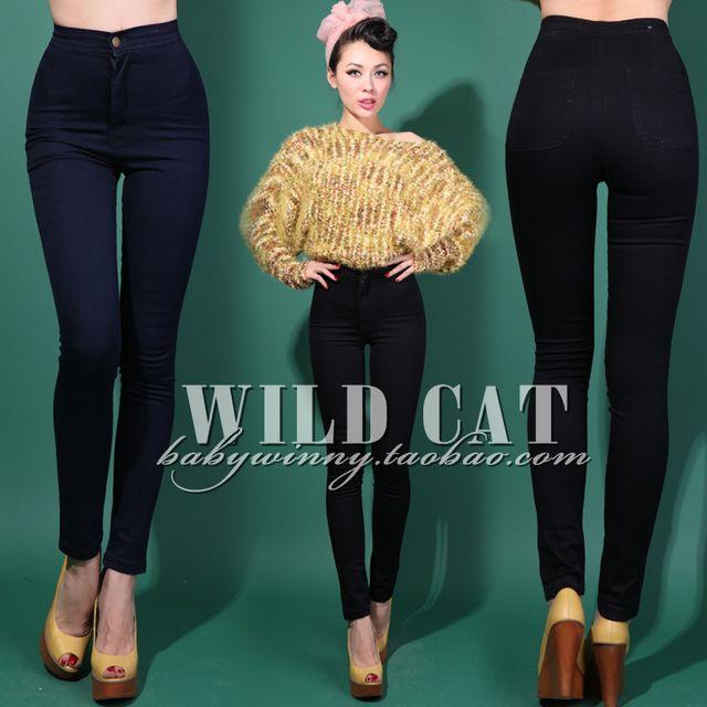 25$ Livraison gratuite vintage édition limitée aa taille haute jeans hanche mince étanche