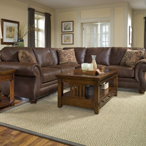 Best Broyhill Laramie Microfiber 2 Piece Sectional Sofa 5080 640 x 480