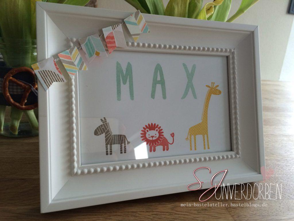 Rahmen zur Geburt - Geschenk zum Kinder Geburtstag - mit Name ...