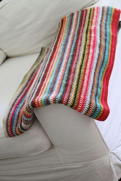 Manta multicolor - Patrón gratuito   manta   Pinterest   Manta y ...