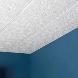Genesis Antique 2 Ft X 2 Ft Lay In Ceiling Panel 752 00 The Home Depot White Ceiling Ceiling Tile Mobile Home Decorating