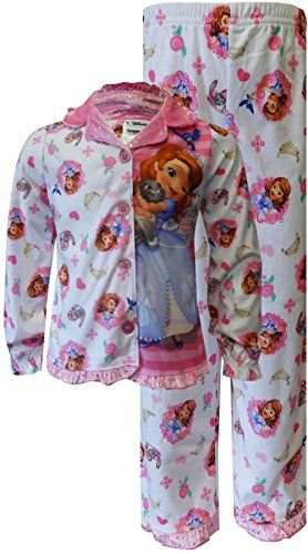 Sofia the First Girls 26X Toddler Princess Hugs Coat Pajama Set White 2T      Click image for more details. ccc61dd70