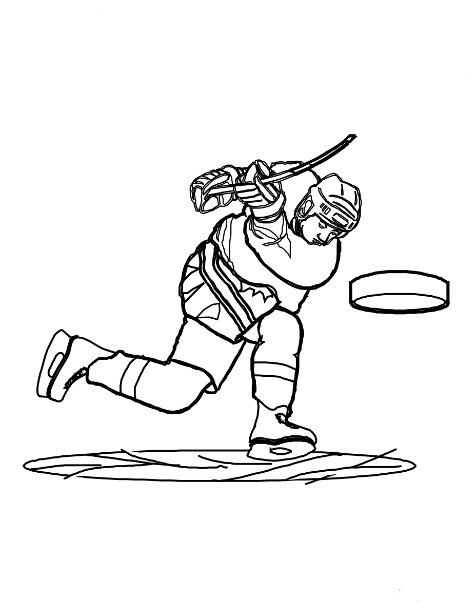 Hockey Shot Coloring Pages For Kids X4 Printable Hockey Coloring Pages For Kids
