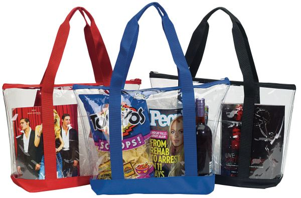 Get A Clear View Of Success With Clear Zipper Tote This Security Tote With Zipper Top Is Great To Use As A School Bag Or Clear Tote Bags Zipper Bags Vinyl