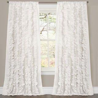 Lush Decor Lake Como Ivory 84 Inch Curtain Panel