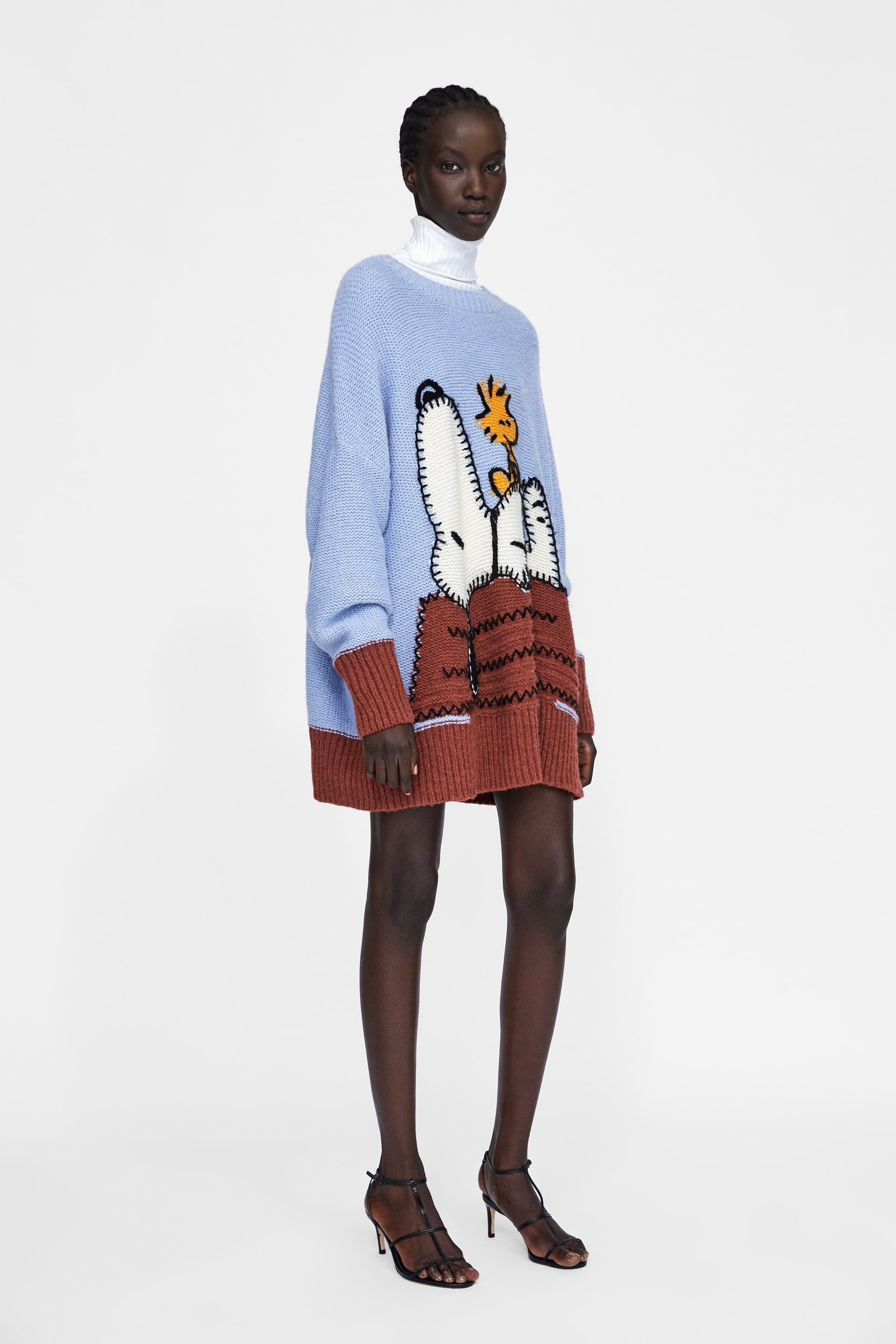 5efdb200bf1 Image 1 of SNOOPY® PEANUTS JACQUARD SWEATER from Zara