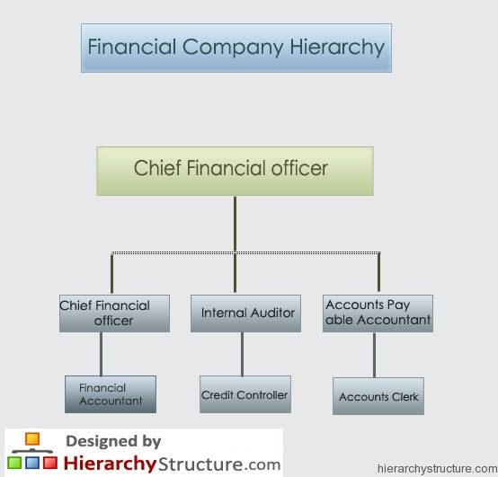 Finance Department: Financial Company Hierarchy