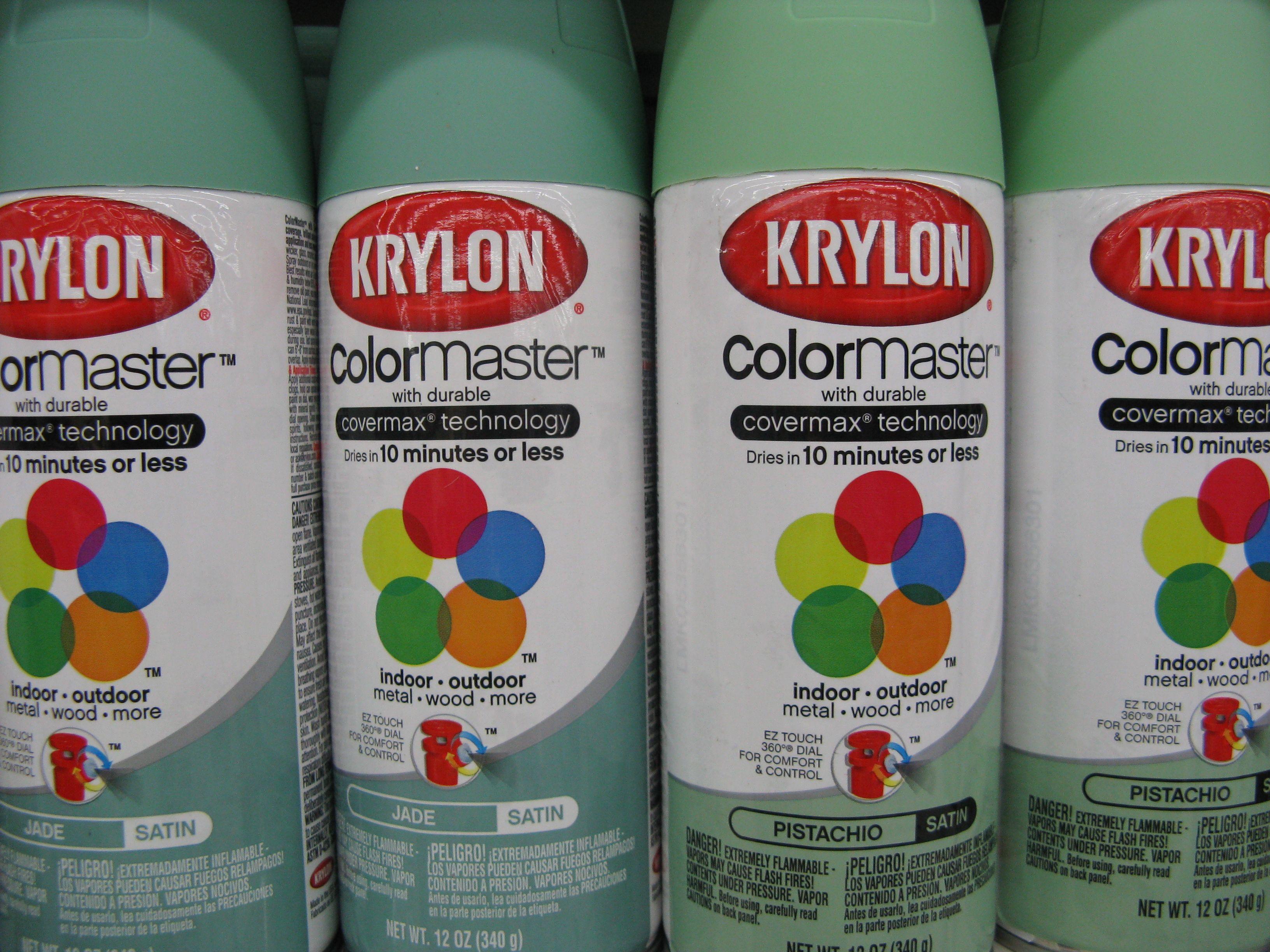 Krylon Pistachio And Jade Spray Paint Painted