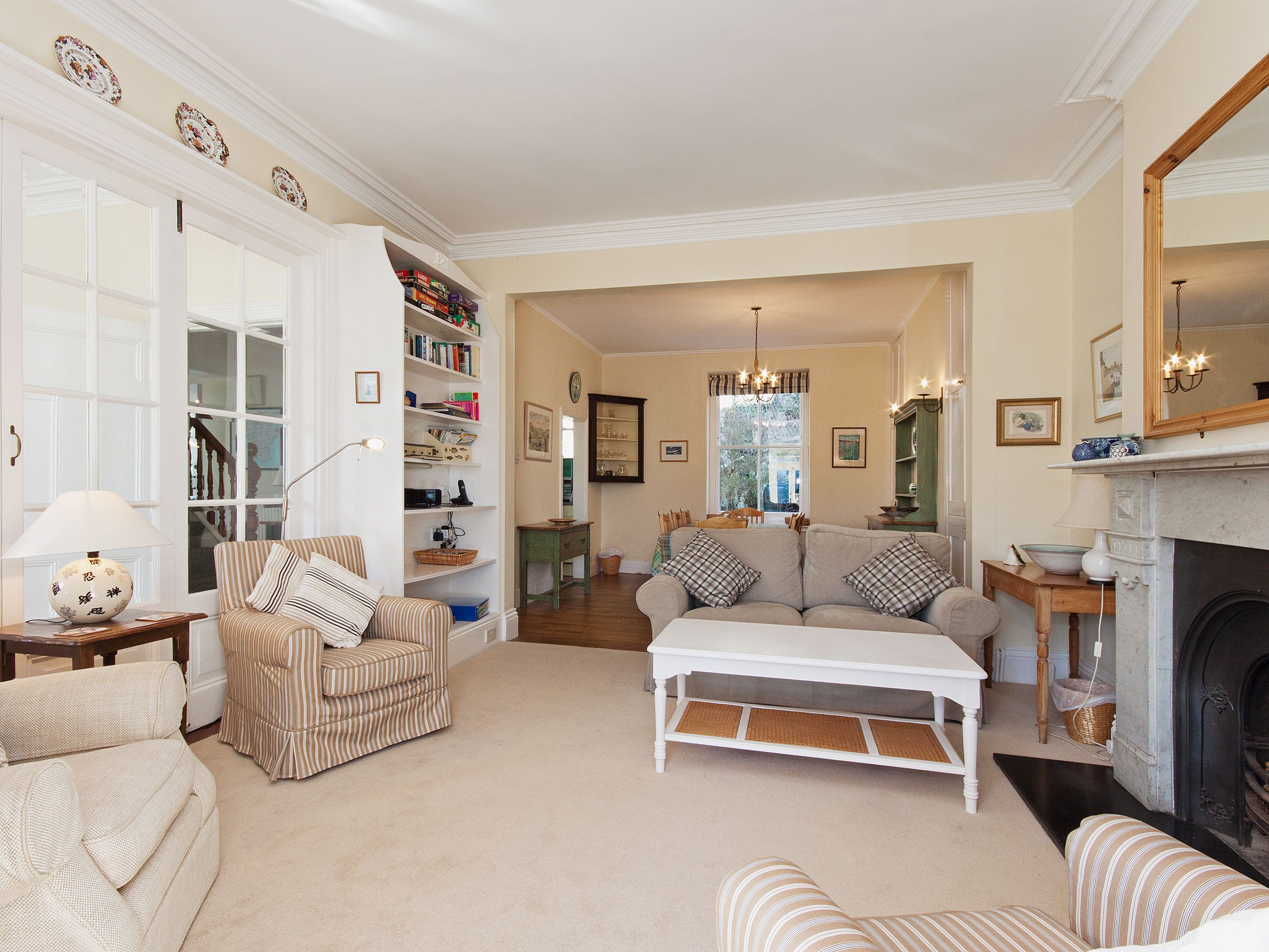 A substantial Victorian semidetached house equipped to a