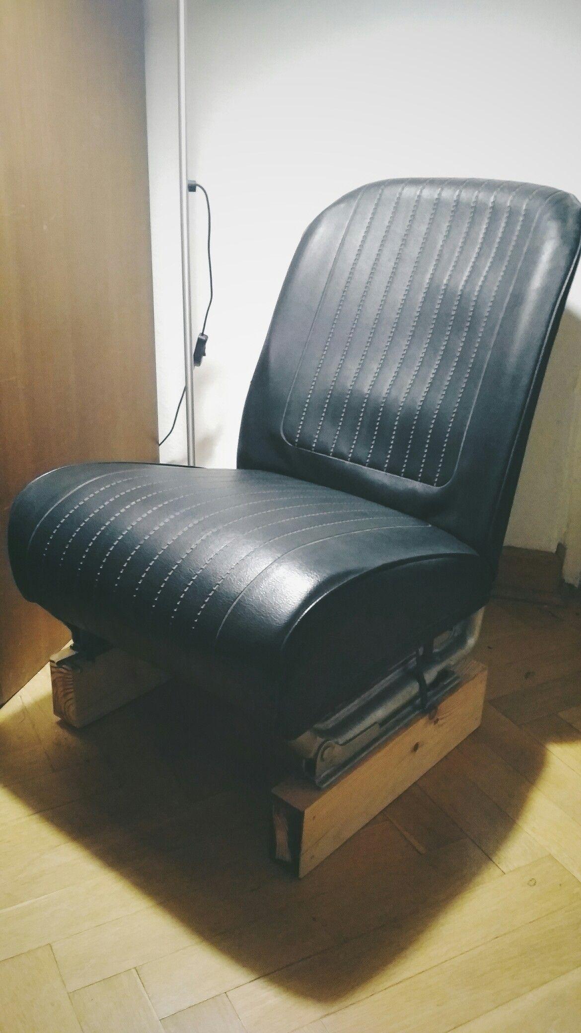 Chair from car 126p. Car furniture DIY