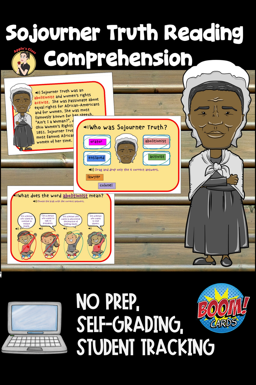 Boom Learning Reading Comprehension Cards Reading Comprehension Sojourner Truth Improve Reading Comprehension [ 1500 x 1000 Pixel ]