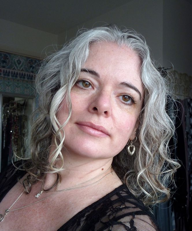 Grey Hair Grey And Proud Images The Women With Dark Eyebro Gray