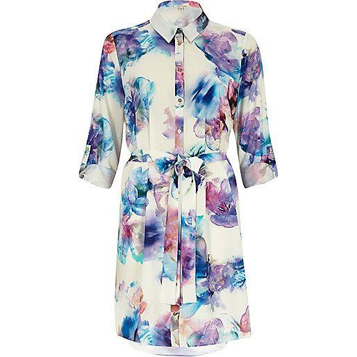 River island blue floral dress