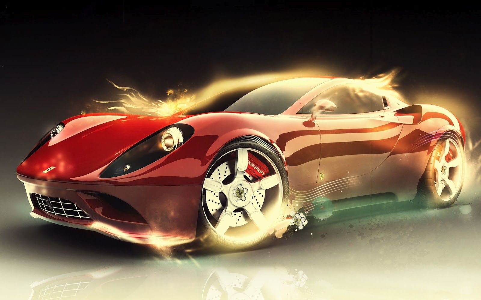 Ferrari red Light Car Wallpaper | Cars Wallpaper | Pinterest | Car
