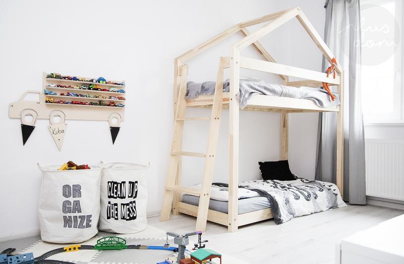 łóżko Piętrowe Drewniane Domek Talo D9 90x180 Plusdom