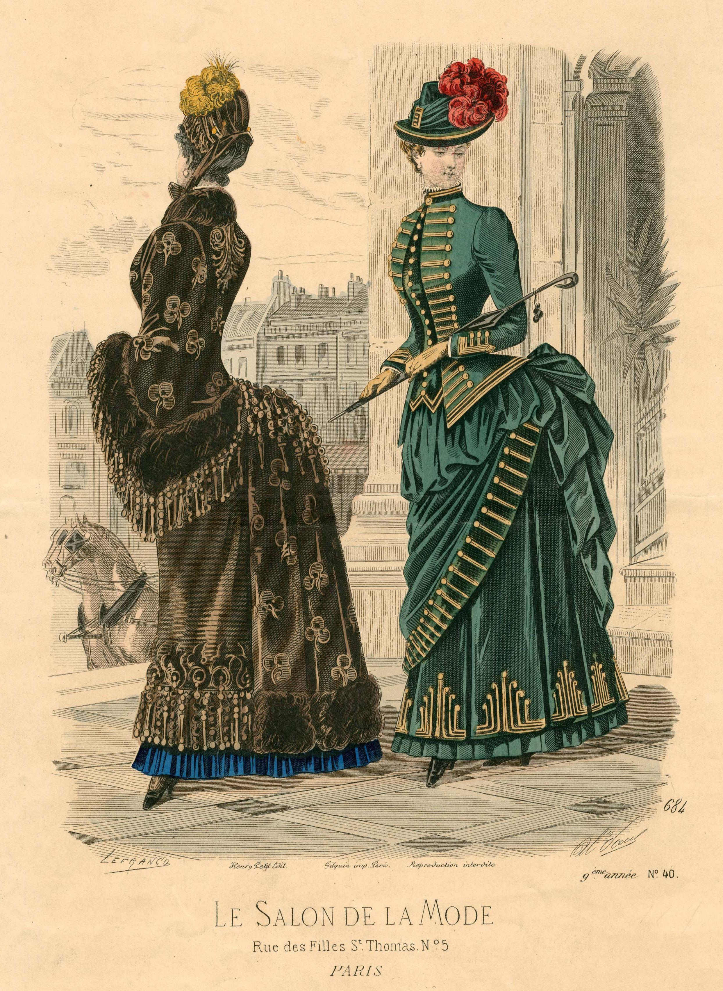Le Salon De La Mode 1884 Fashion Plates Victorian Fashion 1880s Fashion