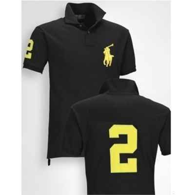 black and yellow ralph lauren polo shirt