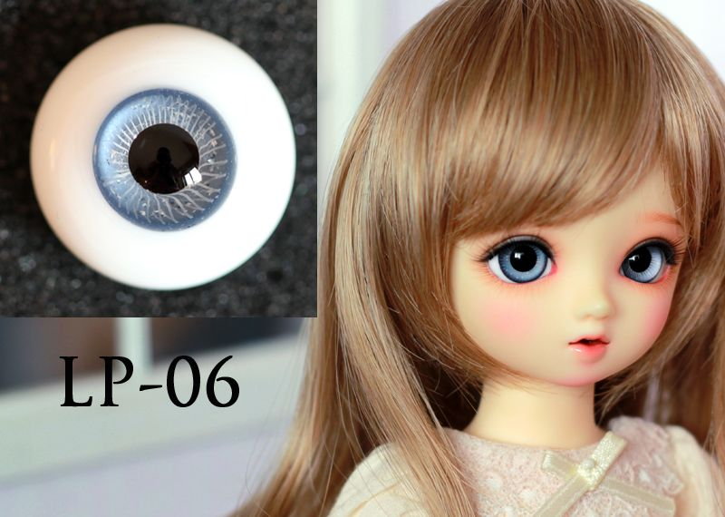 Light Purple Iris with Stripes 12mm Glass Eyes for Joint 1//6 BJD Dollfie