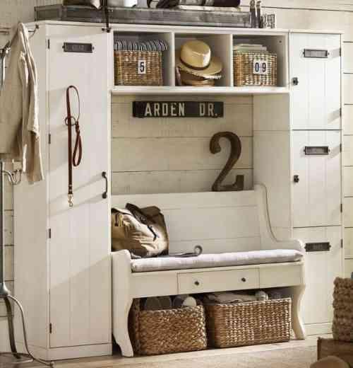 Meuble De Rangement Pour Entree.Meuble Rangement Entree Blanc Style Vintage Deco
