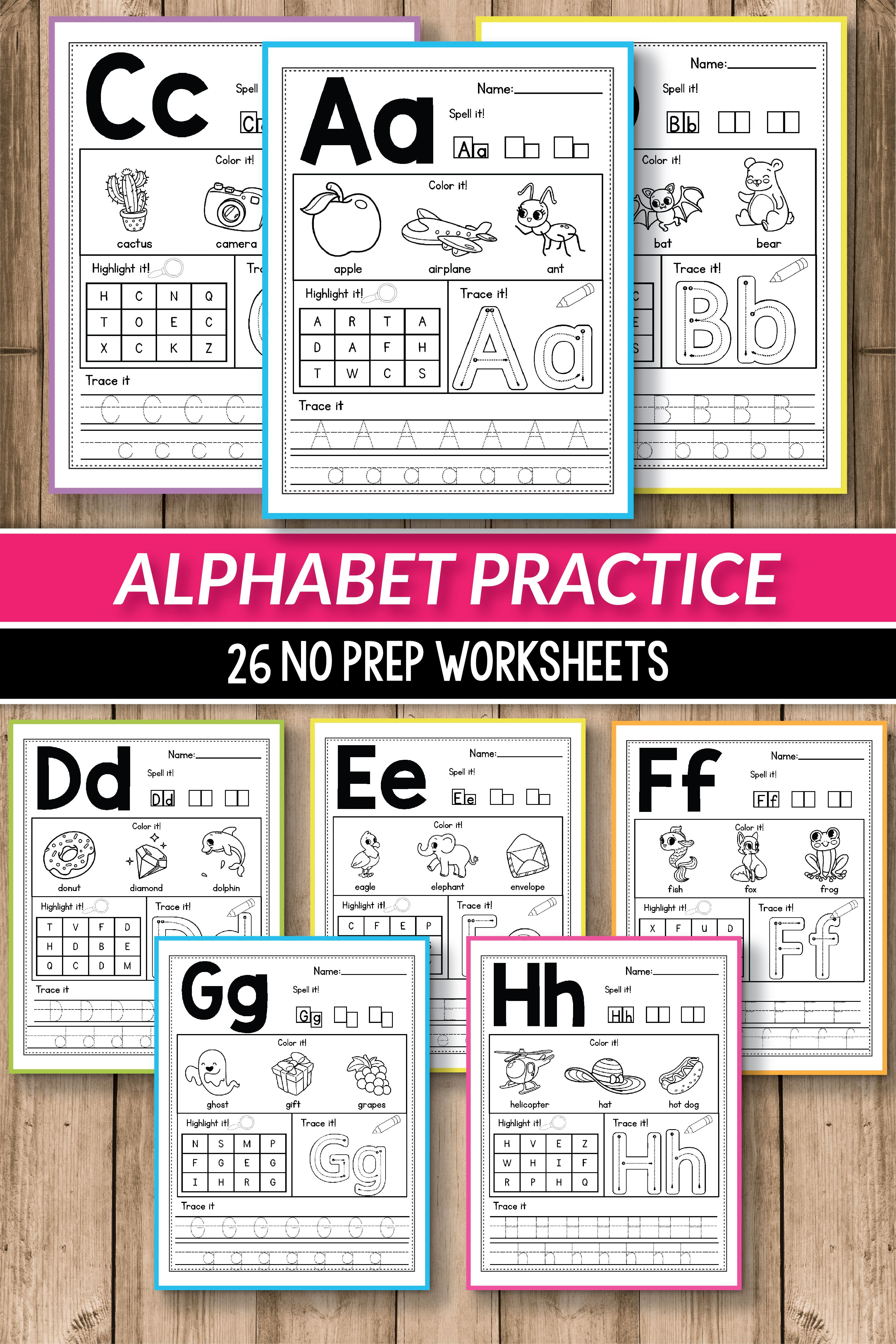 Alphabet Printable Activities For Preschool And Kindergarten These Pack Of Worksheets Will Make Teaching Practice English Uppercase Lowercase