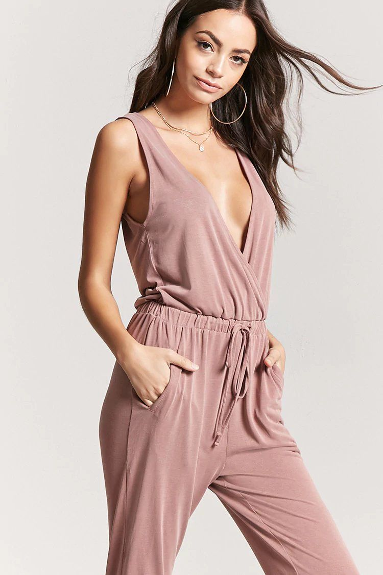 Plunging Drawstring Jumpsuit | Forever21 | forever 21| the latest ...