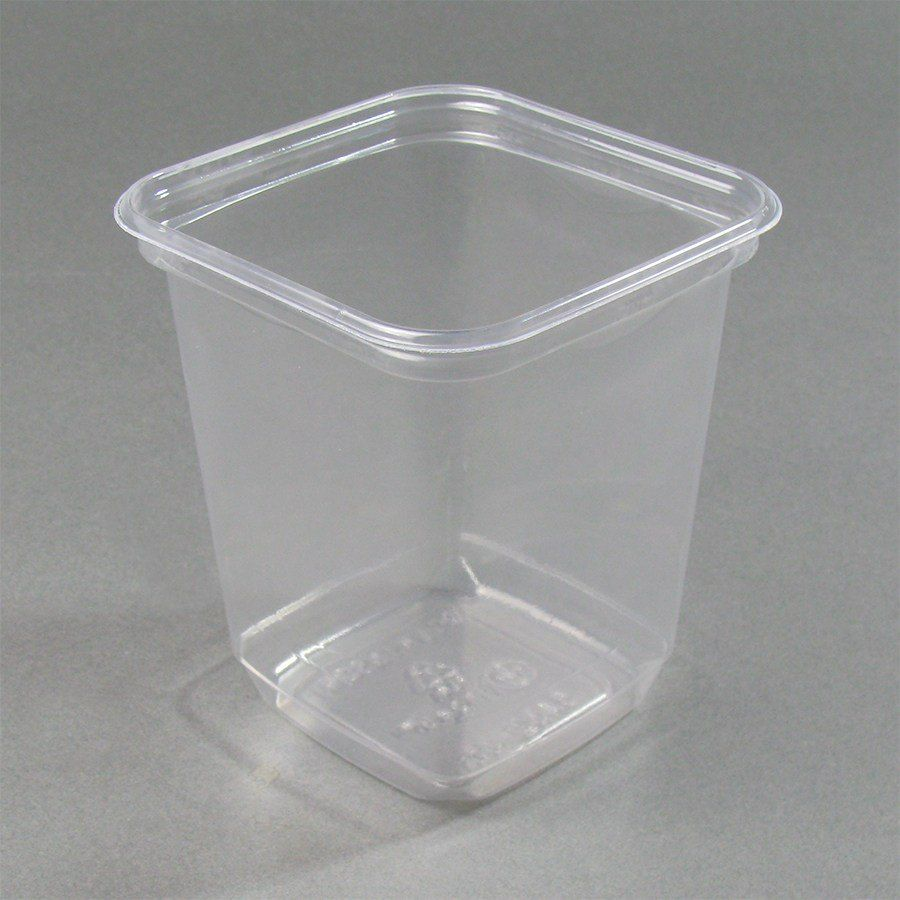32 oz square recycled pet deli container 400case