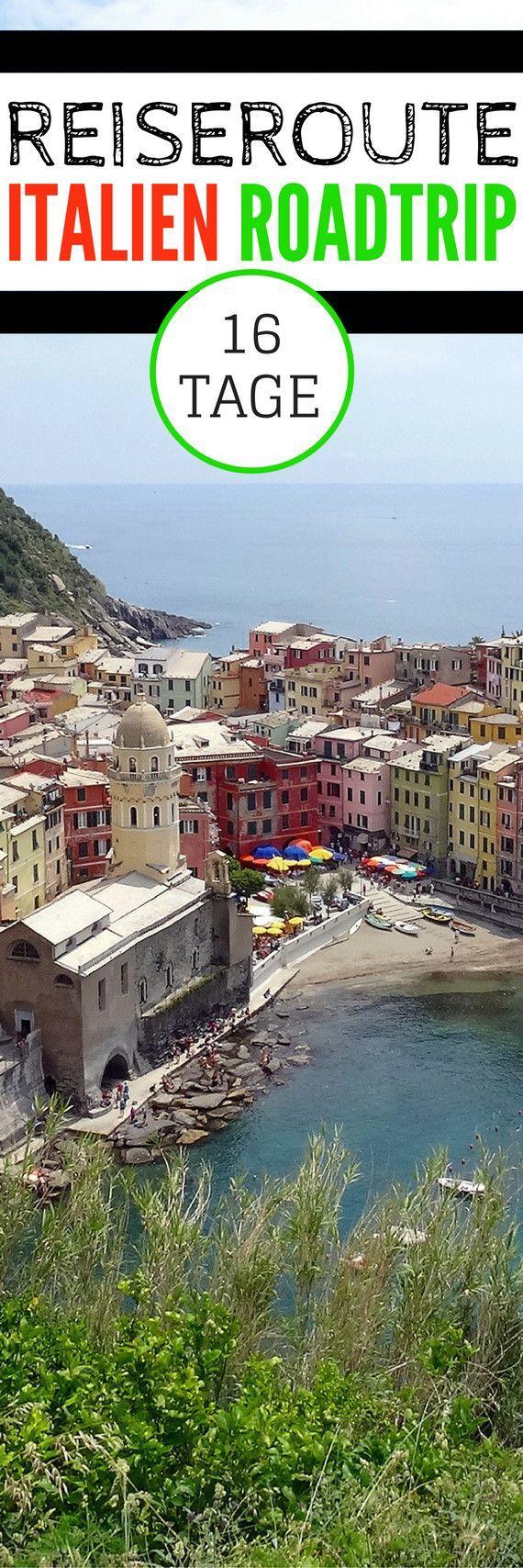 Reiseroute - 16 Tage mit dem Auto durch Italien #campingideas