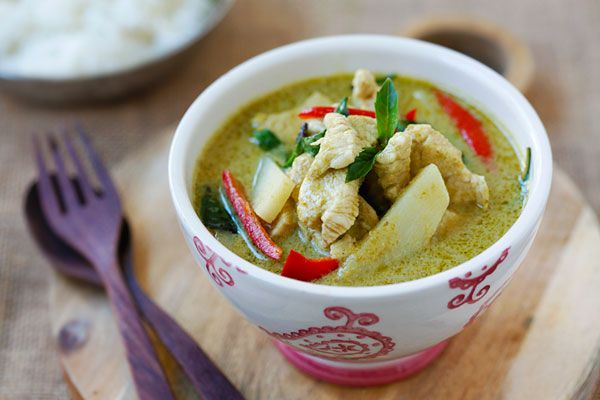 thai green curry on Pinterest | Thai curry recipes, Authentic thai ...
