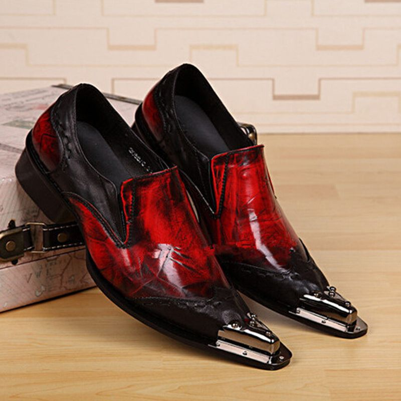 BL Men's Dress Loafers Slip On With Buckle Fashion Modern Business Shoes