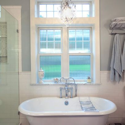 tile chair rail design ideas, pictures, remodel and decor