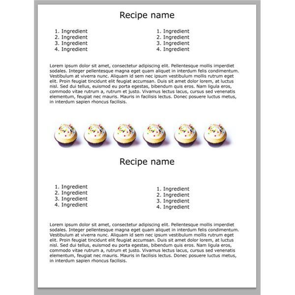 5 Yummy Photoshop Cookbook Templates Free Downloads for Your DIY - homemade cookbook template